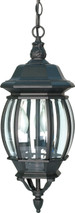 "NUVO Lighting 60/896 Central Park 3 Light 20"" Hanging Lantern with Clear Beveled Glass"