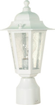 "NUVO Lighting 60/994 Cornerstone 1 Light 14"" Post Lantern with Clear Seeded Glass"