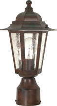 "NUVO Lighting 60/995 Cornerstone 1 Light 14"" Post Lantern with Clear Seeded Glass"