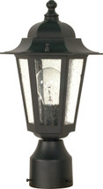 "NUVO Lighting 60/996 Cornerstone 1 Light 14"" Post Lantern with Clear Seeded Glass"
