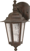 """NUVO Lighting 60/989 Cornerstone 1 Light 13"""" Wall Lantern Arm Down with Clear Seeded Glass"""