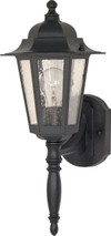 """NUVO Lighting 60/987 Cornerstone 1 Light 18"""" Wall Lantern with Clear Seeded Glass"""