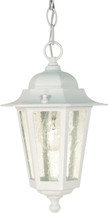 "NUVO Lighting 60/991 Cornerstone 1 Light 13"" Hanging Lantern with Clear Seeded Glass"