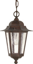 "NUVO Lighting 60/992 Cornerstone 1 Light 13"" Hanging Lantern with Clear Seeded Glass"
