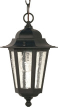 "NUVO Lighting 60/993 Cornerstone 1 Light 13"" Hanging Lantern with Clear Seeded Glass"
