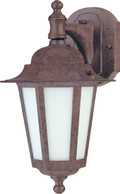 "NUVO Lighting 60/2205 Cornerstone ES 1 Light 13"" CFL Wall Lantern with Satin White Glass (13W GU24 Bulb Included)"