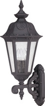 NUVO Lighting 60/2031 Cortland 3 Light Large Wall Lantern Arm Up with Seeded Glass
