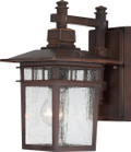 "NUVO Lighting 60/4952 Cove Neck 1 Light 12"" Outdoor Lantern with Clear Seeded Glass"