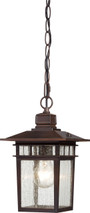 "NUVO Lighting 60/4955 Cove Neck 1 Light 12"" Outdoor Hang with Clear Seeded Glass"