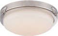 NUVO Lighting 62/353 Crest LED Flushmount Fixture with Satin White Glass