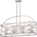 NUVO Lighting 60/5334 Ginger 4 Light Island Pendant with Etched Opal Glass