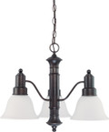 "NUVO Lighting 60/3144 Gotham 3 Light 23"" Chandelier with Frosted White Glass"