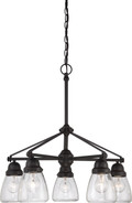 NUVO Lighting 60/5545 Laurel 5 Light Chandelier with Clear Seeded Glass