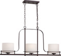 NUVO Lighting 60/5006 Loren 3 Light Island Pendant with Oval Frosted Glass