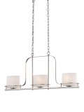 NUVO Lighting 60/5106 Loren 3 Light Island Pendant with Oval Frosted Glass