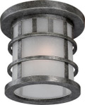 NUVO Lighting 60/5636 Manor 1 Light Outdoor Flushmount Fixture with Frosted Seeded Glass