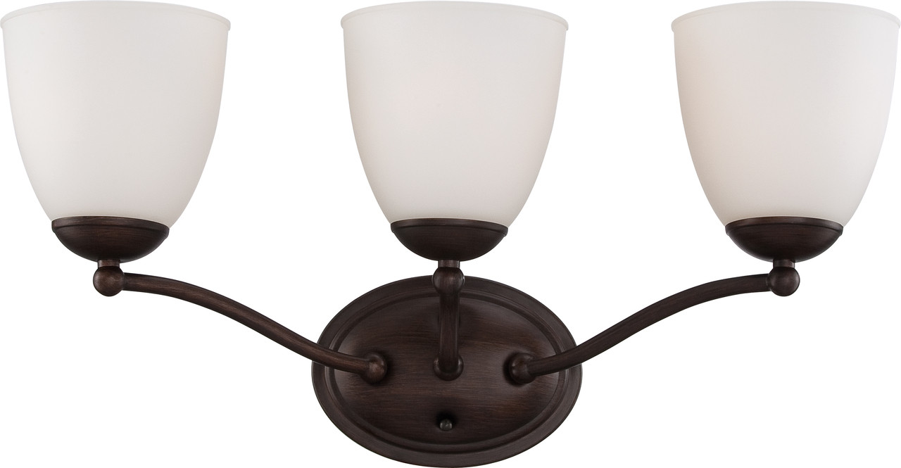 NUVO Lighting 60/5133 Patton 3 Light Vanity Fixture With