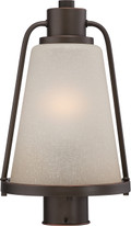 NUVO Lighting 62/684 Tolland LED Outdoor Post with Champagne Linen Glass