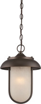 NUVO Lighting 62/675 Tulsa LED Outdoor Hanging with Satin Amber Glass