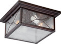 NUVO Lighting 60/5616 Vega 2 Light Outdoor Flushmount Fixture with Clear Seeded Glass