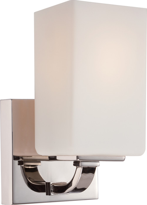 NUVO Lighting 60/5181 Vista 1 Light Vanity Fixture with Etched Opal Glass