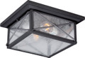 NUVO Lighting 60/5626 Wingate 2 Light Outdoor Flushmount Fixture with Clear Seeded Glass