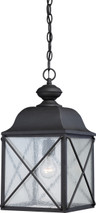 NUVO Lighting 60/5624 Wingate 1 Light Outdoor Hanging Fixture with Clear Seeded Glass