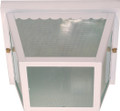 "NUVO Lighting 60/470 2 Light 10"" Carport Flushmount with Textured Frosted Glass"