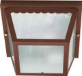 "NUVO Lighting 60/472 2 Light 10"" Carport Flushmount with Textured Frosted Glass"