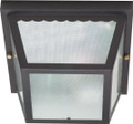 "NUVO Lighting 60/473 2 Light 10"" Carport Flushmount with Textured Frosted Glass"