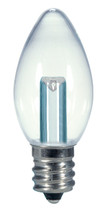 SATCO S9156 Set of 6 Candle LED Lightbulbs (0.5W/C7/CL/LED/120V/CD)