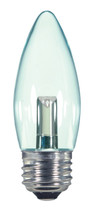 SATCO S9154 Set of 6 Candle LED Lightbulbs (1.4W/ETC/LED/120V/CD)