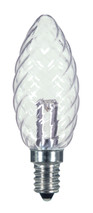 SATCO S9155 Set of 6 Candle LED Lightbulbs (1W/CTD/LED/CRYSTAL/120V/CD)