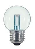SATCO S9158 Set of 6 LED Globe Light LED Lightbulbs (1.4W/G16.5/CL/LED/120V/CD/E26)