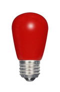 SATCO S9170 Set of 6 Sign & Indicator LED Lightbulbs (1.4W/S14/RED/LED/120V/CD)