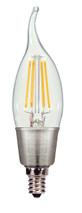 SATCO S9574 Set of 6 LED Filament LED Lightbulbs (4.5W/CFC/LED/27K/120V)
