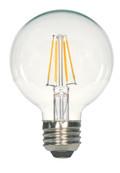 SATCO S9564 Set of 6 LED Filament LED Lightbulbs (6.5G25/CL/LED/E26/27K/120V)