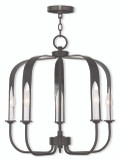 LIVEX Lighting 51935-92 Addison Contemporary Chandelier in English Bronze (5 Light)
