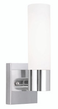 LIVEX Lighting 10101-05 Aero Contemporary Wall Sconce in Polished Chrome (1 Light)