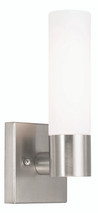 LIVEX Lighting 10101-91 Aero Contemporary Wall Sconce in Brushed Nickel (1 Light)