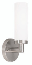 LIVEX Lighting 10103-91 Aero Contemporary Wall Sconce in Brushed Nickel (1 Light)