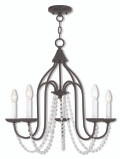 LIVEX Lighting 40795-92 Alessia Chandelier in English Bronze (5 Light)