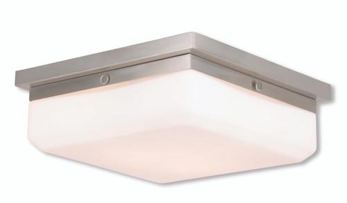 Livex Oldwick Modern Brushed Nickel 3 Light Bathroom: LIVEX Lighting 65537-91 Allure Contemporary ADA Wall