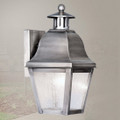 LIVEX Lighting 2550-29 Amwell Outdoor Wall Lantern in Vintage Pewter (1 Light)
