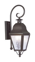 LIVEX Lighting 2551-07 Amwell Outdoor Wall Lantern in Bronze (2 Light)