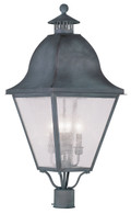 LIVEX Lighting 2548-61 Amwell Outdoor Post Lantern in Charcoal (4 Light)