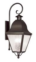LIVEX Lighting 2558-07 Amwell Outdoor Wall Lantern in Bronze (4 Light)