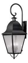 LIVEX Lighting 2559-04 Amwell Outdoor Wall Lantern in Black (4 Light)