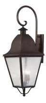 LIVEX Lighting 2559-07 Amwell Outdoor Wall Lantern in Bronze (4 Light)