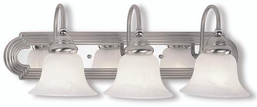 Livex Oldwick Modern Brushed Nickel 3 Light Bathroom: LIVEX Lighting 1003-95 Belmont Bath Light In Brushed